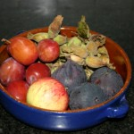 Bowl of autumn fruit and nuts